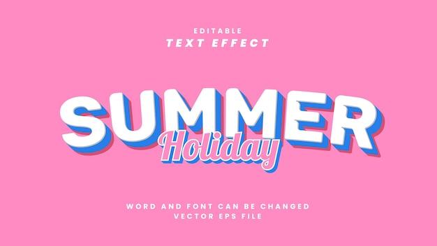 Effetto testo vacanze estive
