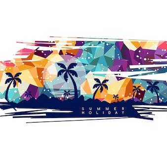 Arte vettoriale tema vacanza vacanze estive