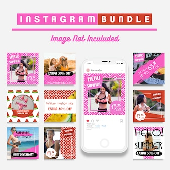 Summer instagram fashion story template