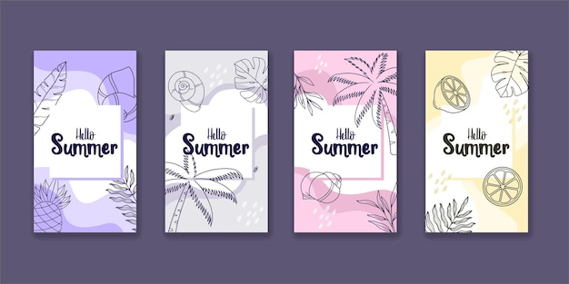 Raccolta di storie instagram estive