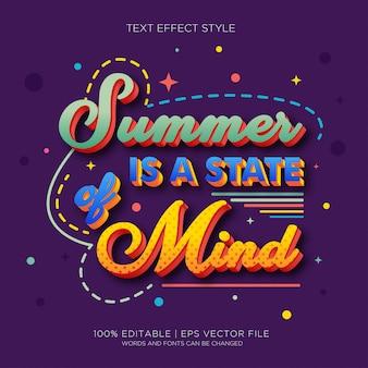 L'estate è uno stato della mente effetti del testo