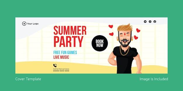 Design della copertina della festa estiva