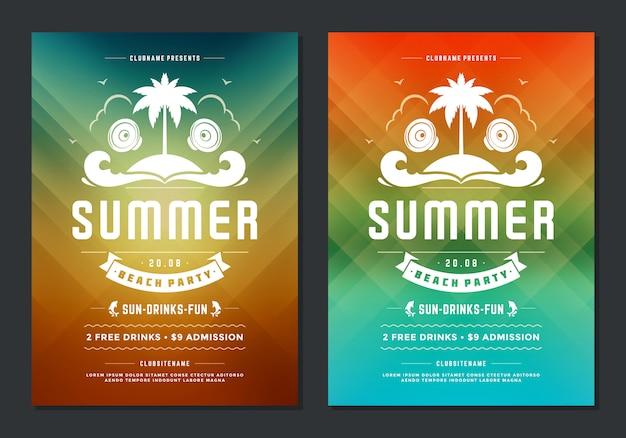 Tipografia moderna di poster o volantino night club design estate festa design