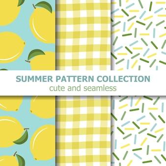 Collezione di modelli estivi. tema di limone.