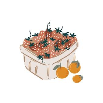 Picnic estivo frutta, frutti di bosco, torta, hot dog, panino, barbecue, caffè, gelato, torta. vista dall'alto. icon set design piatto di articoli da picnic. per banner, poster, promozioni, modelli di presentazione