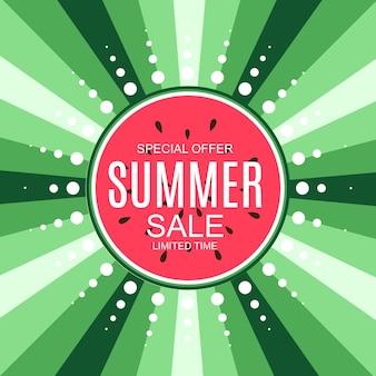 Fondo di concetto di vendita di estate. illustrazione di vettore. eps10