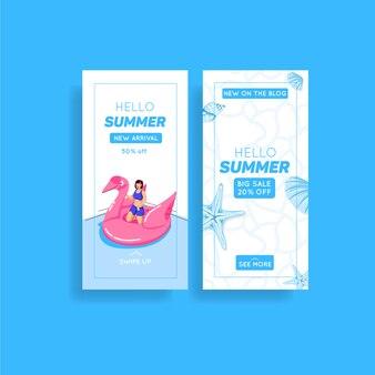 Raccolta di storie di instagram di vendita estiva