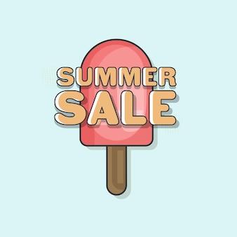 Poster o modello di vendita estiva con stecca di gelato