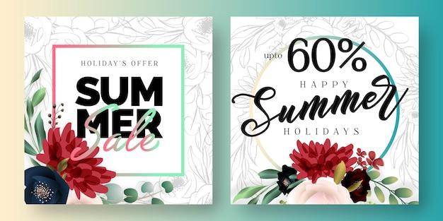 Banner di social media di vendita estiva