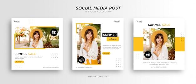 Modello di post sui social media di vendita estiva