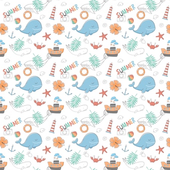 Estate seamless pattern