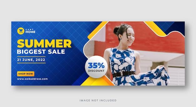 Banner web di vendita stagione estiva
