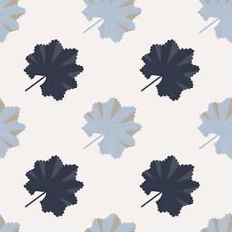 Motivo floreale senza cuciture per la stagione estiva con sagome di foglie tropicali disegnate a mano