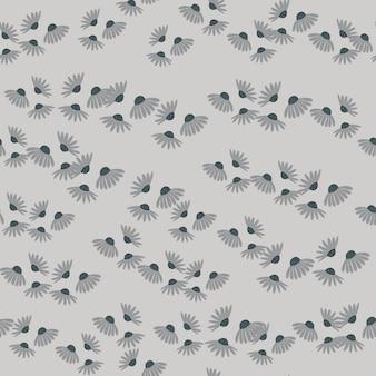 Modello senza cuciture in stile estivo con piccole forme astratte di fiori di camomilla