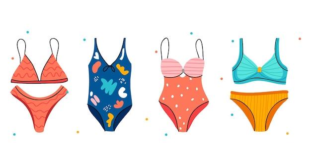 Collezione di costumi da bagno estivi. completo bikini.