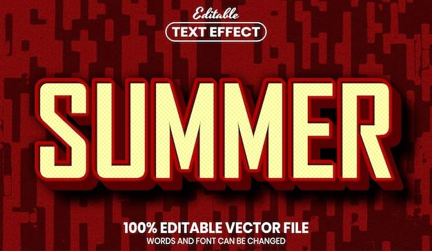 Testo estivo, effetto testo modificabile in stile carattere