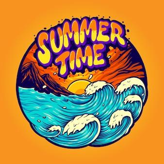 Vacanze estive nel paesaggio