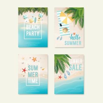 Illustrazione di manifesti di vendita estiva ed estiva