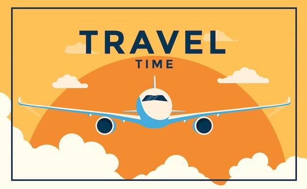 Tempo di viaggio estivo con aereo