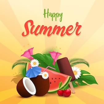 Modello di banner estate tratta