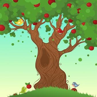 Illustrazione dell'albero di estate
