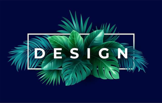 Design tropicale estivo per banner