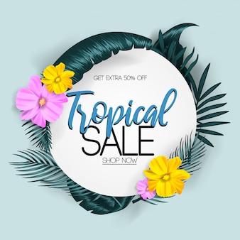 Vendita tropicale d'estate