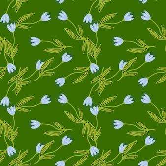Reticolo senza giunte del fiore del tulipano di estate su priorità bassa verde.