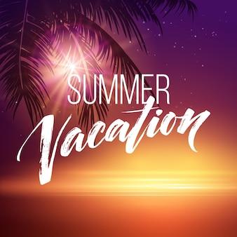 Scrittura a mano di vacanze estive.