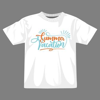 Design della maglietta delle vacanze estive