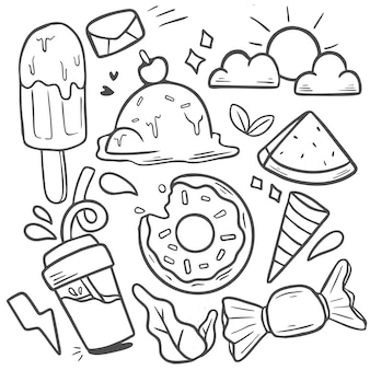 Pacchetto adesivi doodle summer vibe