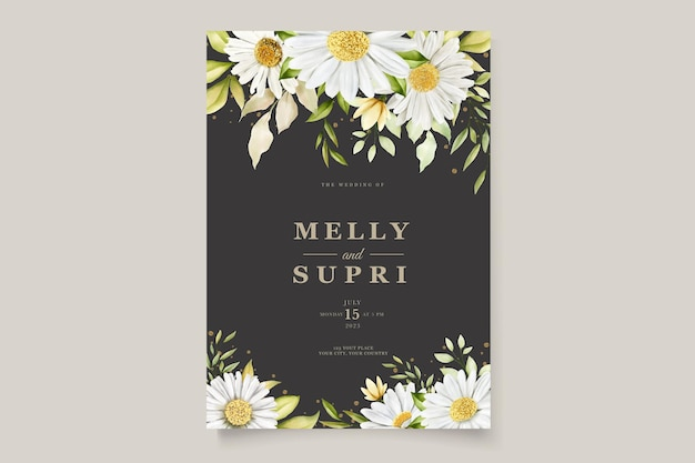 Insieme di carta del fiore del crisantemo dell'acquerello di estate