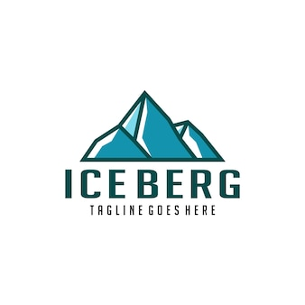 Summit ice berg simbolo logo design