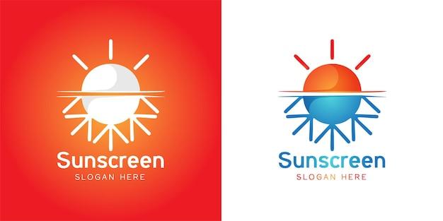 Ispirazione per il design del logo della spiaggia del sole