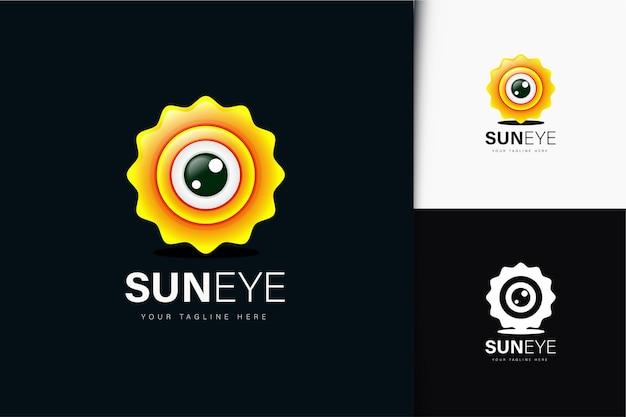 Design del logo dell'occhio di sole con sfumatura