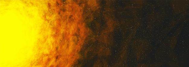 Il sole sullo sfondo dell'universo interstellare