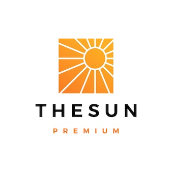 Sun logo icona illustrazione