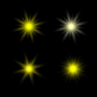 Vettore di raggi di sole