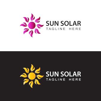Vettore di progettazione del modello di logo solare del sole