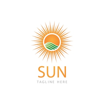Sole illustrazione vettoriale icona logo template design