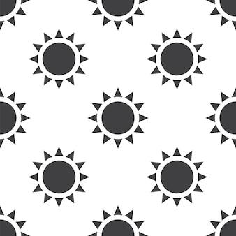 Sole, motivo vettoriale senza soluzione di continuità, modificabile può essere utilizzato per sfondi di pagine web, riempimenti a motivo