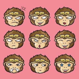 Emoticon occidentale di sun wukong o monkey king