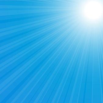 Illustrazione posteriore dello sprazzo di sole
