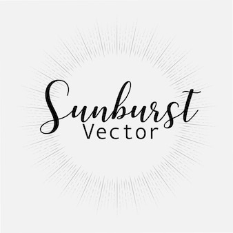 Stile sunburst isolato su sfondo bianco
