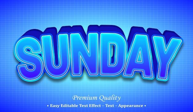 Effetto stile testo modificabile domenica 3d