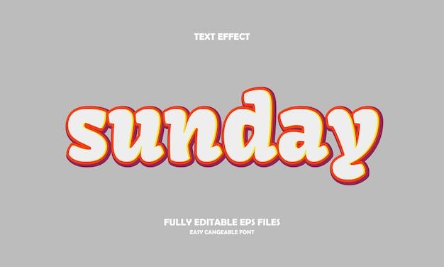 Effetto testo domenica