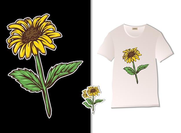Illustrazione del fiore di girasole