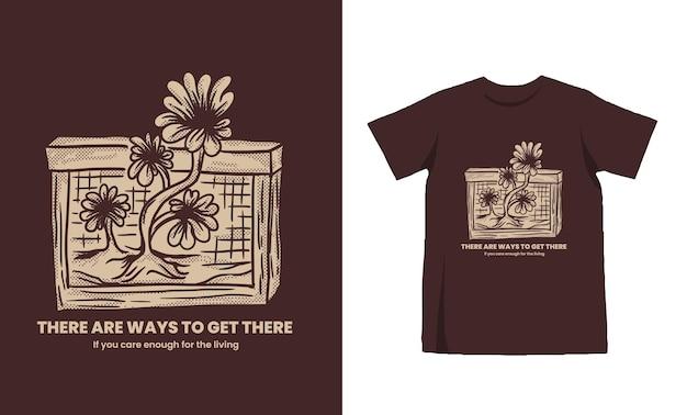 Design vintage tshirt girasole