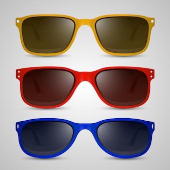 Oggetto colore occhiali da sole. arte di illustrazione vettoriale 10eps