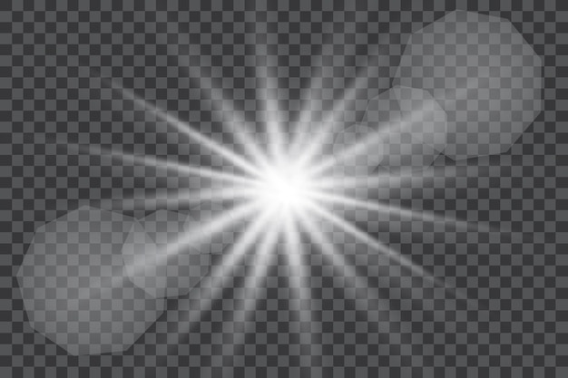 Luce solare speciale lente bagliore effetto luce illustrazione